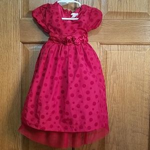 Holiday dress, red, sz 3t
